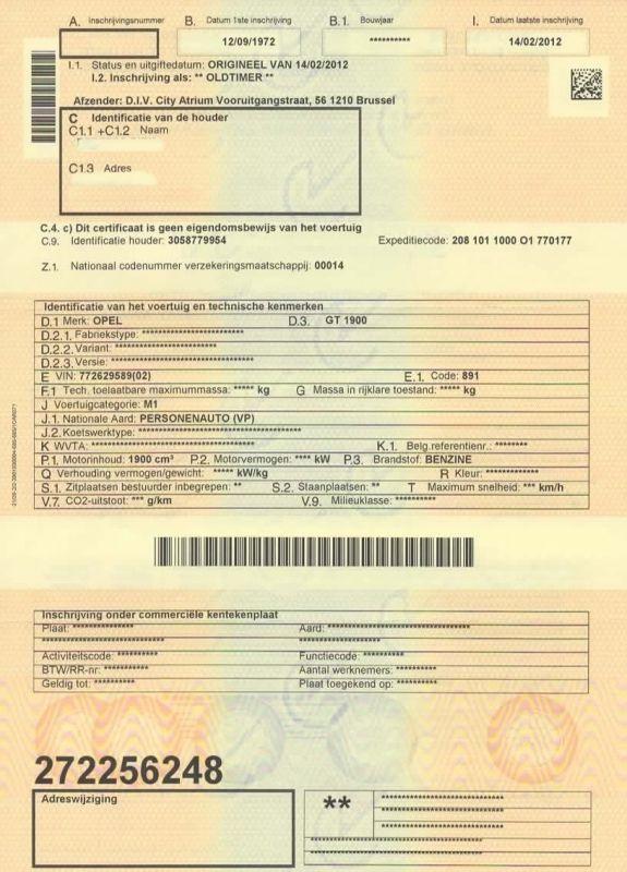carte grise belge en carte grise francaise Quels documents pour importer une GT ?   Forum de l'Entraide